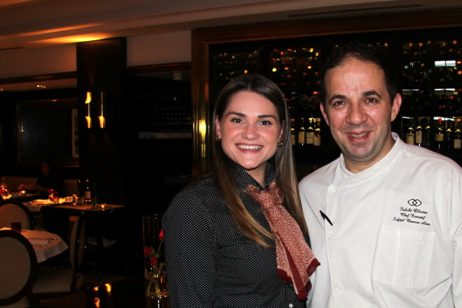 Eu e o Grande Chef Oliver Falchi.