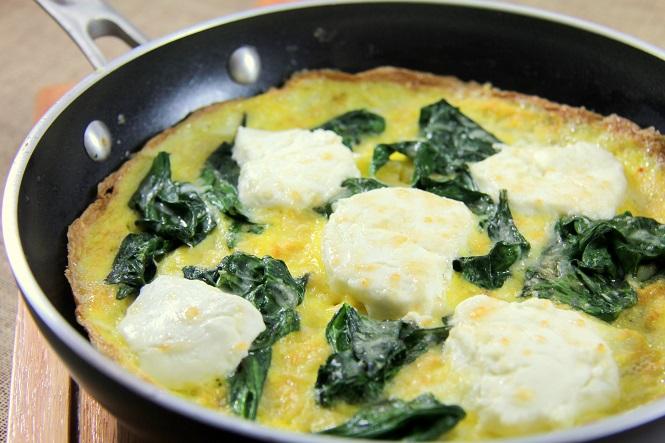 Omelete de Espinafre e Queijo de Cabra 2