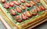 Torta Folhada de Tomate e Pesto